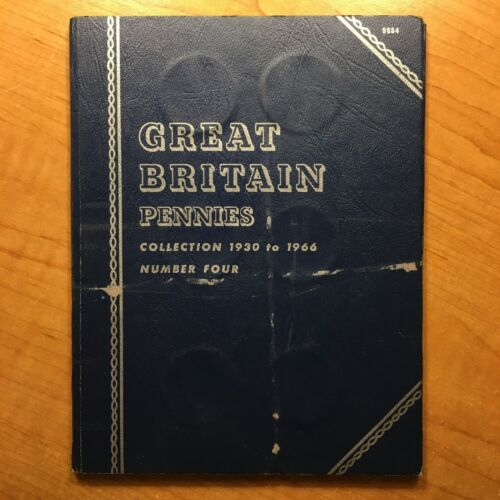 Whitman 27 Coin Type-Set Great Britain Pennies Collection 1930 to 1966 No. Four