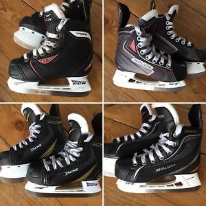 4 paires patins de hockey qualité pour junior/youth