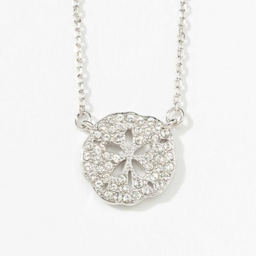 Touchstone Crystal Mini Sand Dollar Necklace Item 1928N A Sand Dollar symbolizes
