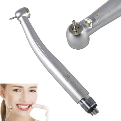 Dental E-generator LED Fiber Optic High Speed Handpiece 4Hole Turbine
