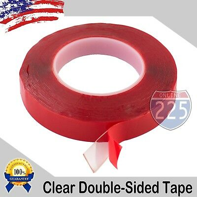 30 Feet 10 Yards Of 34 Inch Double-sided Clear Transparent Tape Adhesive