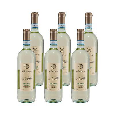 Valmarone Pinot Grigio Italienischer Weißwein (6 x 0,75L) 12,00% vol. 4,5 L