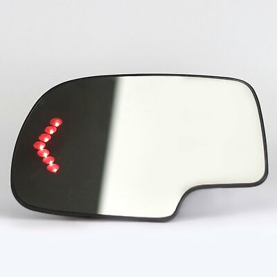 Heated Mirror Glass Turn Signal Driver Side LH for 2003-2007 Cadillac Chevy GMC ()
