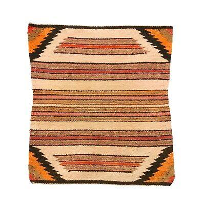 Navajo Single Saddle Blanket Banded with Chevron Corners