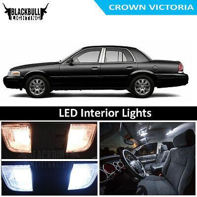 Fits 1998-2011 Crown Victoria White LED Interior Lights Replacement Package - 1998 Lights