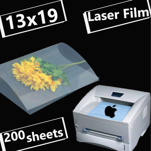 "13"" x 19"",200 sheets,Transparency Laser Printer Film Paper Silk Screen Printing"