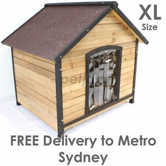 Outdoor Kennel Extra X Large Big Pet Dog House Wooden Home Timber