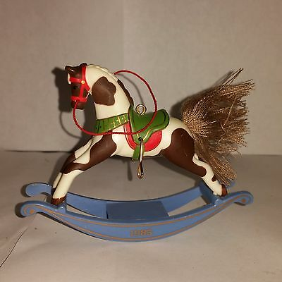 Hallmark Keepsake Christmas Tree Ornament - Rocking Horse - 1985 Dated