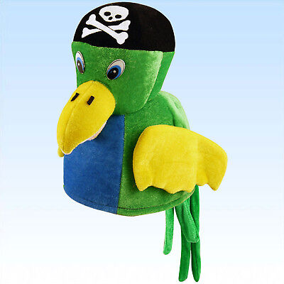Hut Papagei Piratenhut Vogel Pirat Tier Kostümhut Kostümzubehör Tierhut Fasching