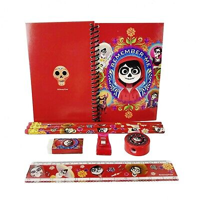 Disney Red Coco Stationary Set Back to School Supplies for Kids 8 Pieces (Stationary For Kids)