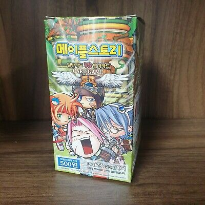 Maplestory TCG Korean Trading Card Game Box (30 Packs) 2004 First Ever Product