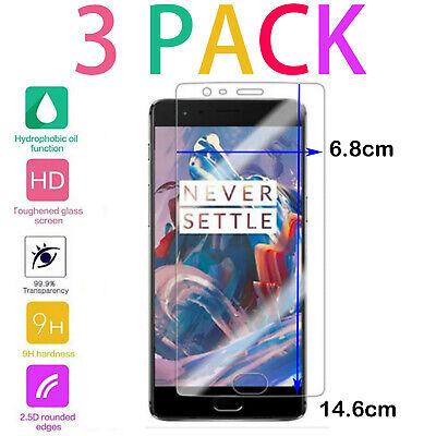 3Pack Gorilla Pantalla Protectora Cristal Templado Para Nuevo OnePlus 3/3T Tapa
