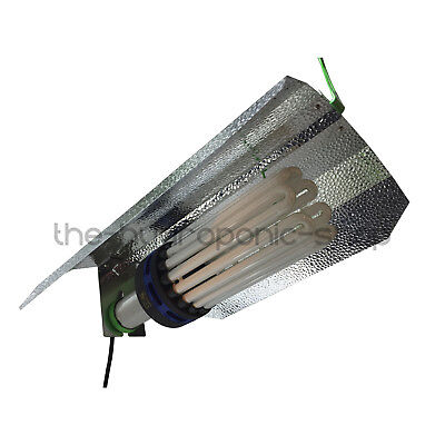 Omega CFL 300W Blue Spectrum Bulb Euro Shade Light Kit Hydroponics