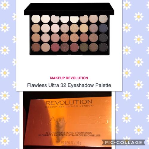 Makeup Revolution 32 Color Eyeshadow Palette, Flawless