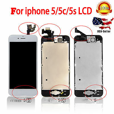 Usa Lcd Display Touch Screen Digitizer Assembly Replacement For Iphone 5 5S  5C