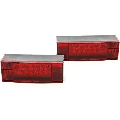 LED Low Profile Red Trailer Turn/Signal/Stop 2 Light L/R Submersible DOT Over 80