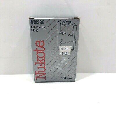 Nu-kote Model BM236 Black Nylon Printer Ribbon 1 box (Model 1 Printer Ribbon)