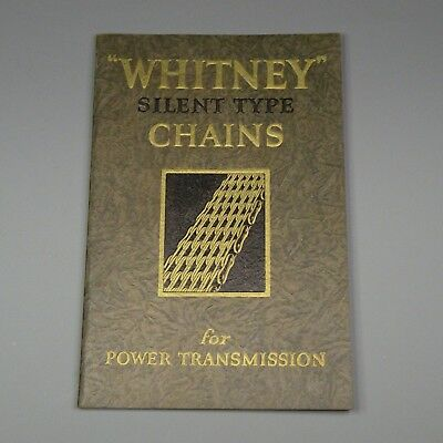 1927 catalog - Whitney power transmission chains - Hartford, Connecticut