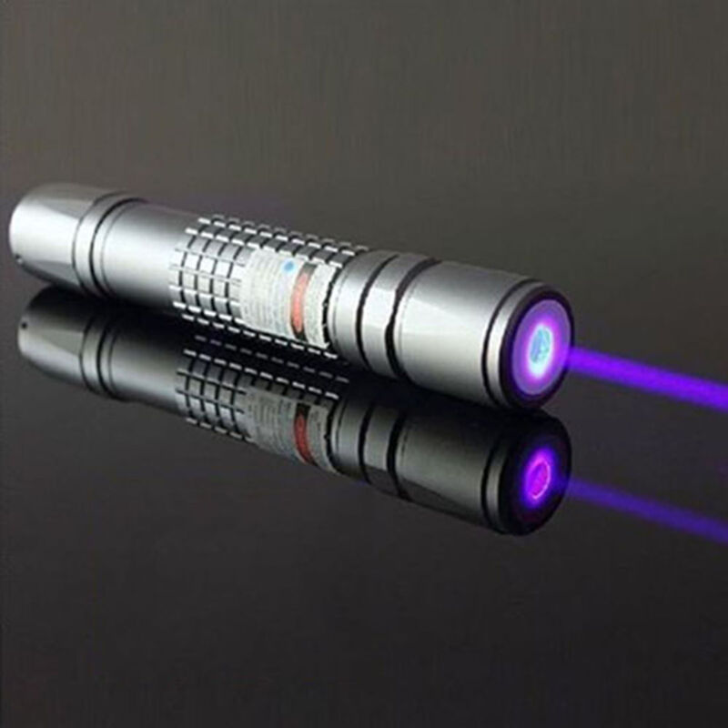 High Power 405nm Laser Pointer Burning Beam Pen Charger 5mW Blue Purple USA