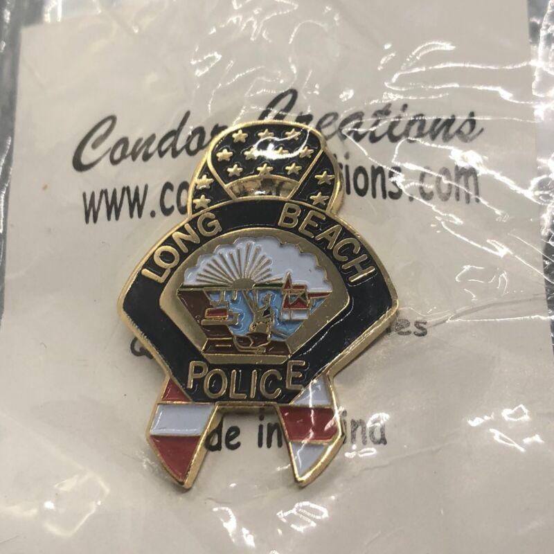 Rare 9/11 Police Uniform Pin LBPD Long Beach