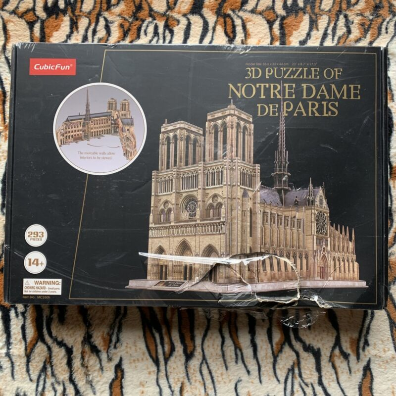 CubicFun 3D Brain Teaser Puzzle For Adults Of Notre Dame De Paris 293 Pieces