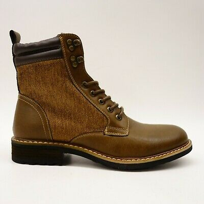 New J75 By Jump D-Day US 9 Vintage Brown Rugged Military Mens Zip Boot