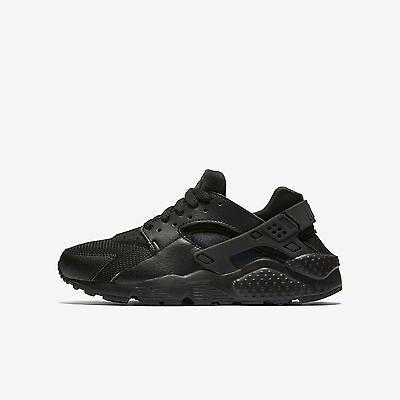 Nike Big Kids Huarache Run  Gs  New Authentic Black 654275 016