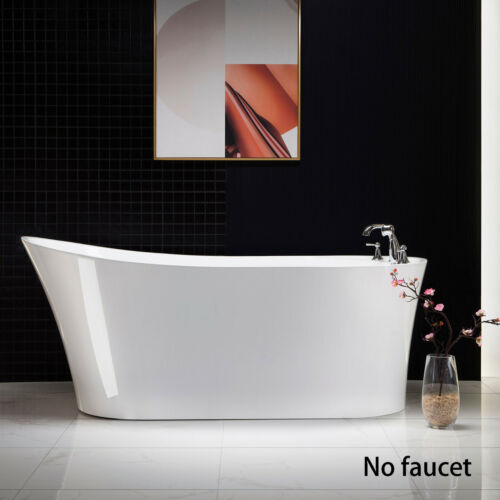 "Woodbridge 67"" Acrylic Freestanding Bathtub Contemporary Soaking Tub BTA0084"