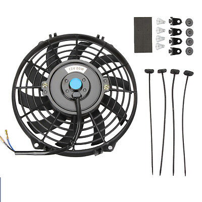 Universal 9 12V Car Kit Electric Cooling Radiator Intercooler Fan Push Pull