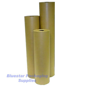 100m-900mm-Pure-Kraft-Brown-Wrapping-Paper-Roll-90gsm