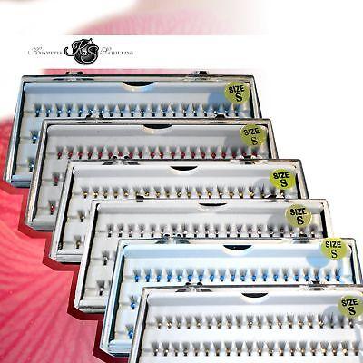 Büschelwimpern schwarz mit Strass 8mm, 10mm oder 12mm Augen Einzelne Wimpern  ()