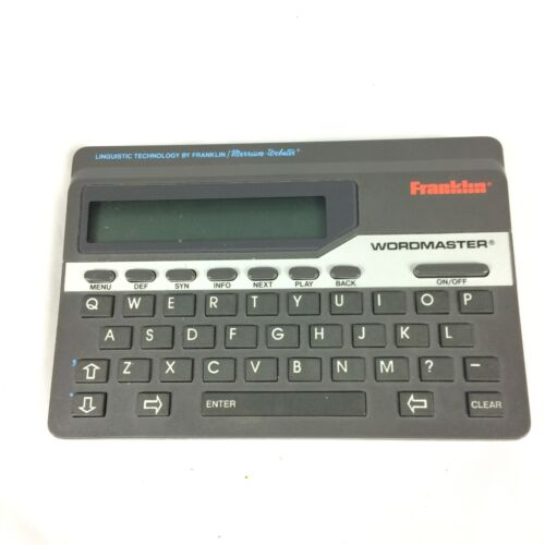 Franklin Wordmaster Deluxe WM1055 Electronic Dictionary Thesaurus Works Great! L