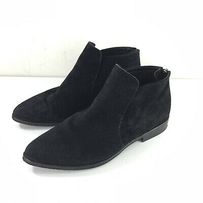 Anthropologie Maiden Lane Black Suede Ankle Boots 38 8
