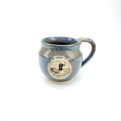 John Deneen Hand Thrown Stoneware Mug Minnesota Loon Coffee Tea Cup Mug 16 oz