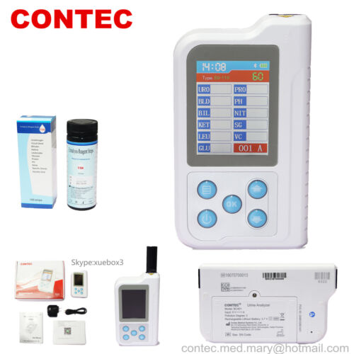 US,Portable Urine Analyzer 11 Parameters 100pcs Test Strips, Chargable BC401 NEW