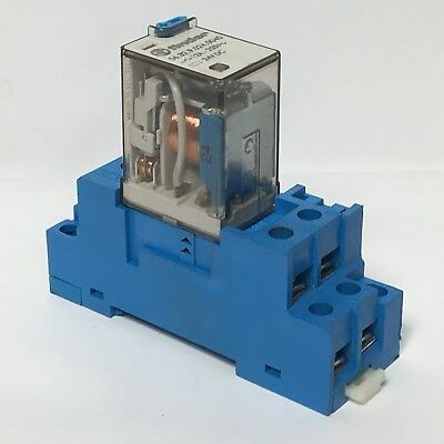 Finder 56.32.9.024.0040 Plug In Relay 24VDC 8 Pin 12A w/ 96.72 Socket Base Din Plug-in Relay 8 Pin