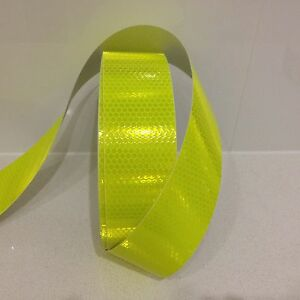 Hi-Vis Yellow Adhesive Vehicle Reflective Safety Tape 50mm x 5m Roll
