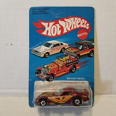 Vintage Hot Wheels Firebird Funny Car No. 3250 Red Metal Flake Die Cast New 1981