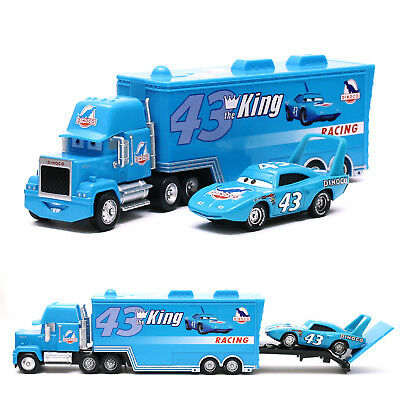Disney Pixar Cars NO.43 King & Dinoco Mack Truck Set 1:55 Diecast Toy Loose New