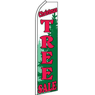 Christmas Tree Sale Swooper Feather Banner Flag