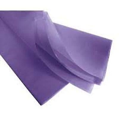 10 feuilles de soie papier mousseline 50 x 75 mauve NEUF
