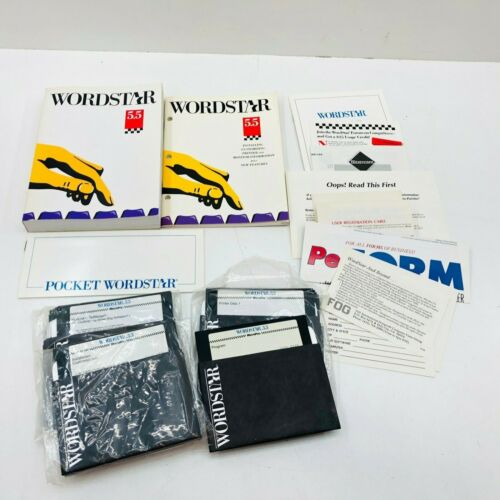 WORDSTAR 5.5. PC Computer Floppy Disk Software Books Original Paperwork VTG 1989