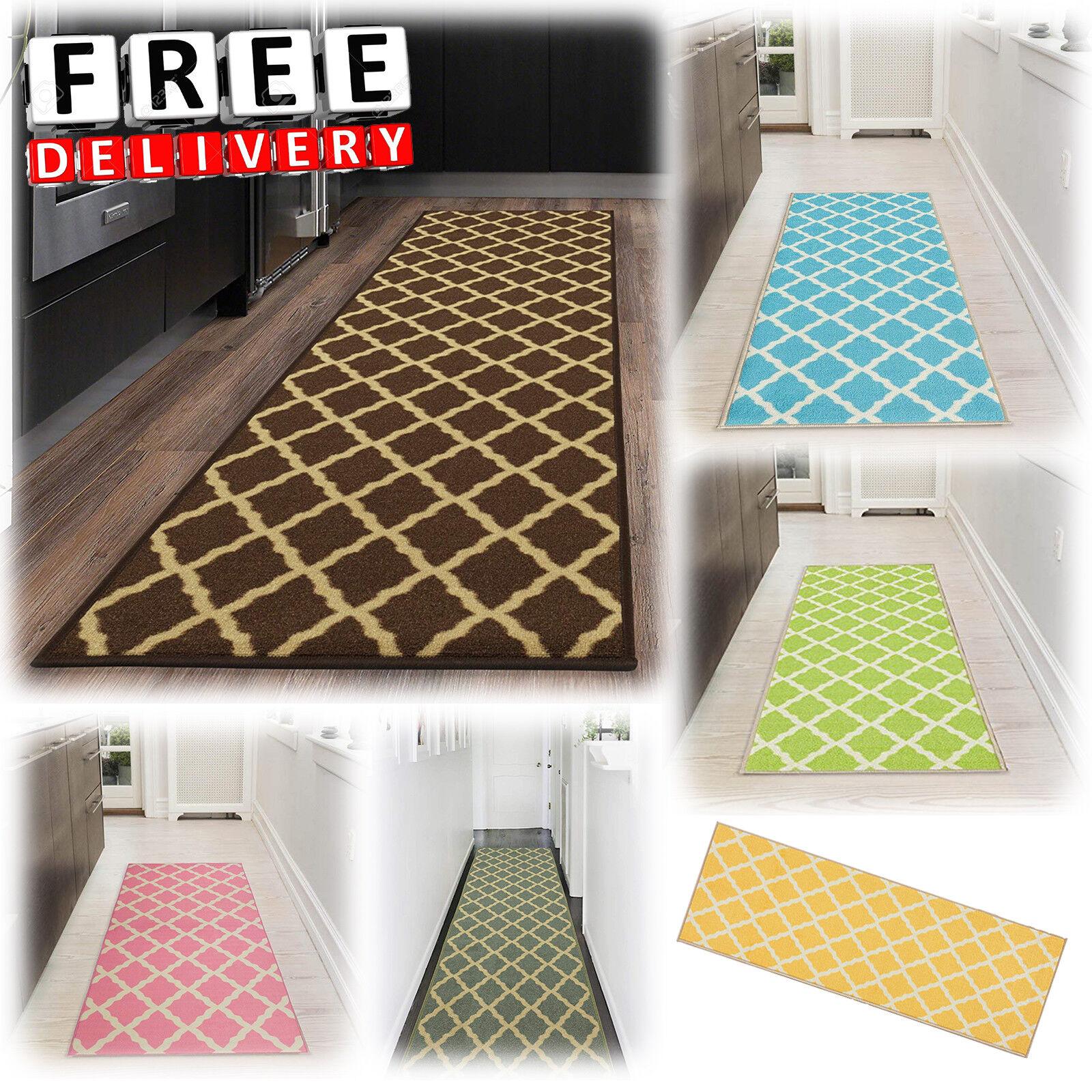 "Hallway Rug Runners 20x59"" Kitchen Area Carpet Non Slip Rubb"