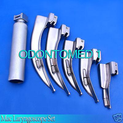 Mac Laryngoscope Set 5 Blade 0 1 2 3 4 1 Handle Emt