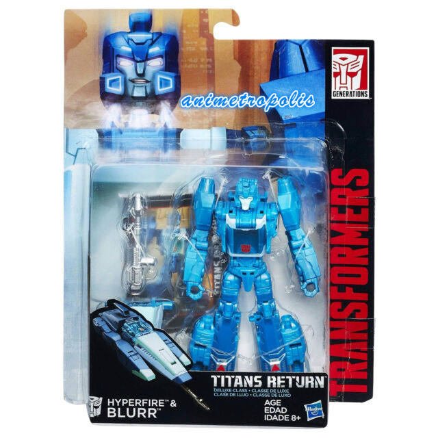 TRANSFORMERS GENERATIONS TITANS RETURN DELUXE HYPERFIRE BLURR ACTION FIGURE NEW
