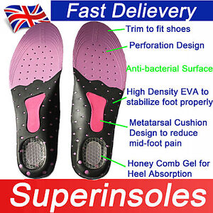 Gel-heel-Odour-free-Metatarsal-Cushion-Arch-Support-FULL-FOOT-ORTHOTIC-INSOLE