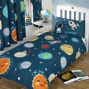 solar system single duvet cover set new boys spaceman