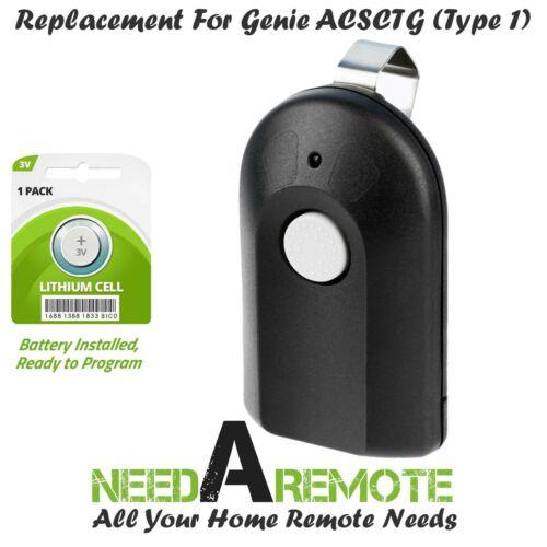 For Genie Intellicode Model ACSCTG Type 1 Garage Door Opener Remote Control