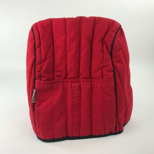 Retro Kitchenaid Mixer Cover Red 100% Cotton Shell 1 Front Pocket