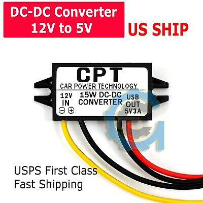 Car Waterproof Dc-dc Converter 12v Step Down To 9v Power Supply Module 3a 15w